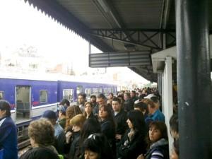 Un día, en Castelar, a las 7.40 aproximadamente, cuando el tren andaba con demoras